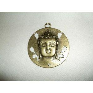 Jewelry - Buddha head bronze finish charm necklace pendant